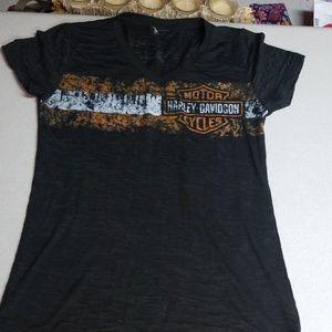 Harley-Davidson short sleeved shirt, M, gray